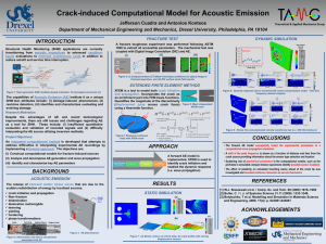 Crack-induced Computational Model for Acoustic Emission INTRODUCTION Jefferson Cuadra and Antonios Kontsos