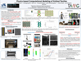 Physics-based Computational Modeling of Knitted Textiles