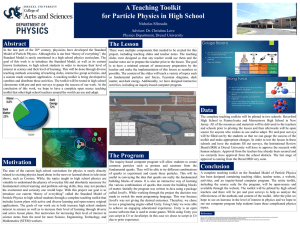 A Teaching Toolkit for Particle Physics in High School Abstract The Lesson