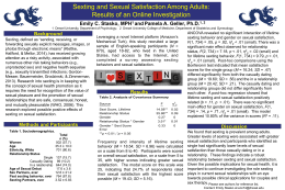 Sexting and Sexual Satisfaction Among Adults:  Emily C. Stasko, MPH and