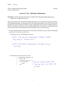 Lesson 23. Lab – Helicopter Maintenance