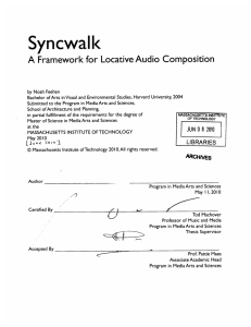 Syncwalk A Framework  for Locative Audio  Composition