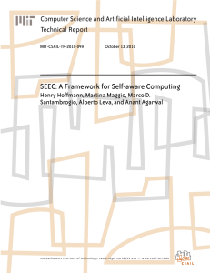 SEEC: A Framework for Self-aware Computing Technical Report