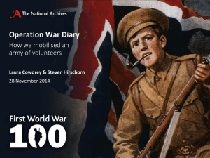Operation War Diary How we mobilised an army of volunteers