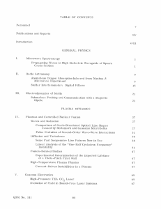 TABLE  OF  CONTENTS Publications  and  Reports xiv Introduction