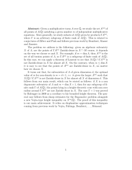 Abstract: Given a multiplicative torus A over ¯ of