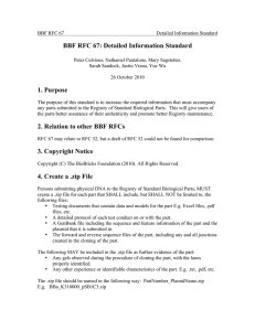 BBF RFC 67: Detailed Information Standard