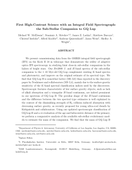 First High-Contrast Science with an Integral Field Spectrograph: