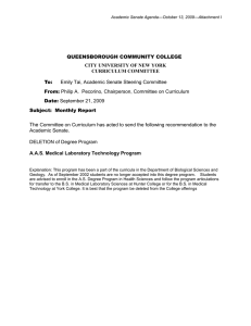 QUEENSBOROUGH COMMUNITY COLLEGE CITY UNIVERSITY OF NEW YORK CURRICULUM COMMITTEE
