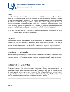 Policy Faculty and Staff Authored Textbook Policy