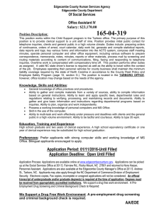 165-04-319 Of Social Services Office Assistant IV Salary: $23,170.00