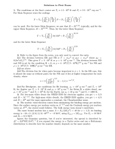 Solutions to First Exam 1.5 · 10 K and P