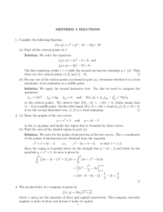 MIDTERM 2 SOLUTIONS 1. Consider the following function: