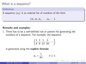 What is a sequence? Definition