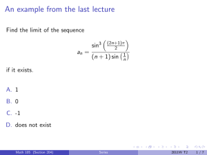 An example from the last lecture  sin