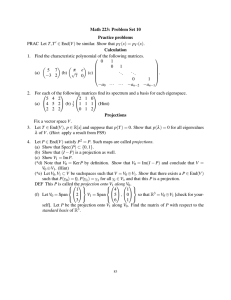 Math 223: Problem Set 10 Practice problems (x) = p