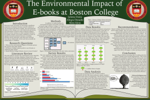 The Environmental Impact of E-books at Boston College Methods Introduction