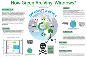 How Green Are Vinyl Windows? RESULTS INTRODUCTION
