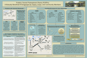 Publicly Owned Pretreatment Plants (POPPs):