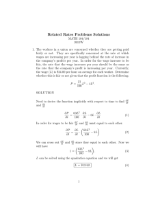 Related Rates Problems Solutions