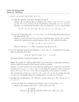 Math 212 Spring 2006 Exam #1: Solutions