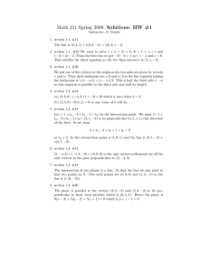 Math 211 Spring 2008: Solutions: HW #1