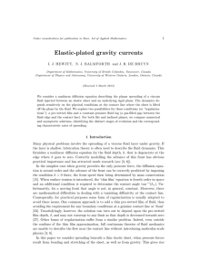 Elastic-plated gravity currents 1