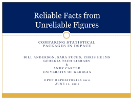 Reliable Facts from Unreliable Figures