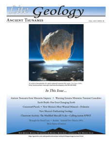 Lite Ancient Tsunamis In This Issue ...
