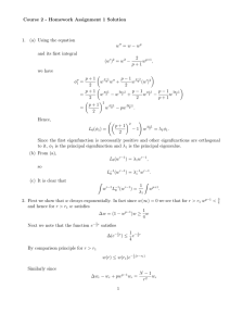 Course 2 - Homework Assignment 1 Solution w − w