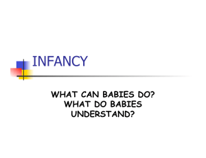 INFANCY WHAT CAN BABIES DO? WHAT DO BABIES UNDERSTAND?