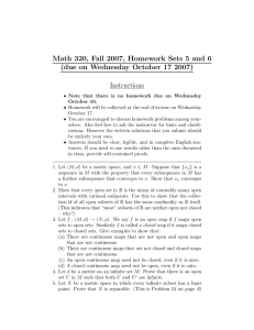 Math 320, Fall 2007, Homework Sets 5 and 6 Instructions