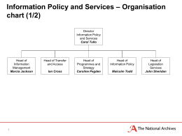 – Organisation Information Policy and Services chart (1/2)