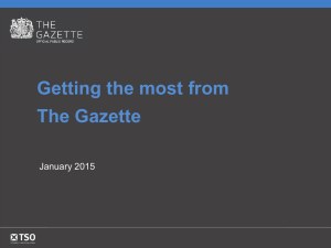 Getting the most from The Gazette January 2015