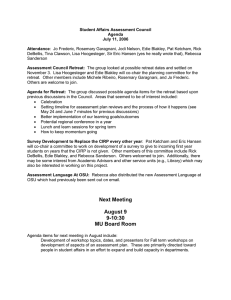 Student Affairs Assessment Council Agenda July 11, 2006