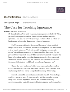 The Case for Teach The Opinion Pages