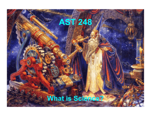 AST 248 What is Science?
