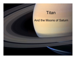 Titan And the Moons of Saturn