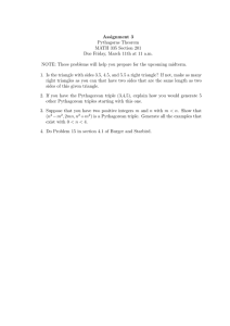 Assignment 3 Pythagoras Theorem MATH 335 Section 201