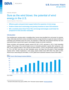 Sure as the wind blows: the potential of wind U.S.