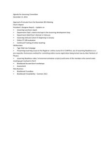 Agenda for eLearning Committee December 13, 2011