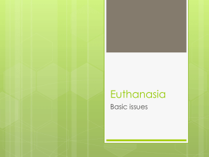 Euthanasia Basic issues