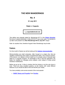 THE NEW WANDERINGS No. 4 01 July 2011 Ralph J. Coppola