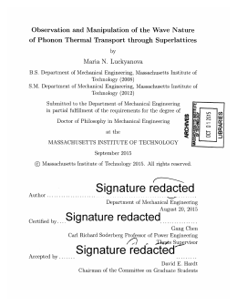 Quantum Dot Lasers   Electrical and Computer Engineering studylib net Observation and Manipulation of the     of Phonon Thermal Transport through Superlattices