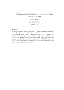 Nonintersecting Brownian interfaces and Wishart random matrices Celine Nadal
