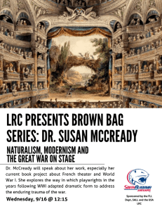 LRC PRESENTS BROWN BAG SERIES: DR. SUSAN MCCREADY NATURALISM, MODERNISM AND