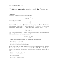 Problems on p-adic numbers and the Cantor set