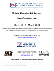 Mobile Residential Report: New Construction March 2013 - March 2014