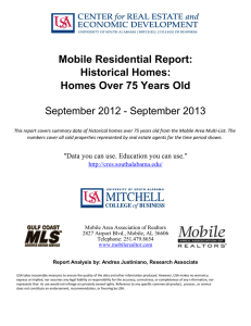 Mobile Residential Report: Historical Homes: Homes Over 75 Years Old