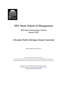 MIT Sloan School of Management MIT Sloan Working Paper 4230-02 January 2002